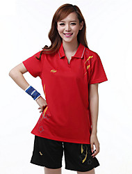 Conjuntos de Roupas/Ternos(Vermelho Azul) -Mulheres-Respirável Confortável-Badminton
