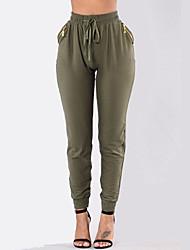 Women Solid Color Legging,Cotton Spandex