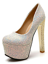 Women's Heels Spring Summer Other Customized Materials Wedding Party & Evening Dress Stiletto Heel Sequin Black Blue Silver Other