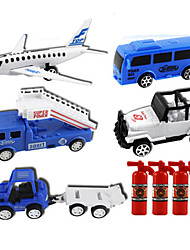 Planes & Helicopters Pull Back Vehicles 1:28 ABS Blue
