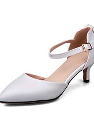 Women's Heels Spring Summer Other Leatherette Dress Kitten Heel Others Almond Blue Purple White