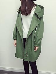 Spot really making 2017 spring new printing long-sleeved hooded lips waist long coat female coat