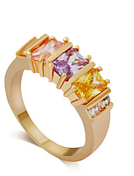 Ring Rhinestone Acrylic Wedding Party Daily Jewelry Alloy Acrylic Rhinestone Women Ring 1pc,7 8 Gold Silver Multi Color Yellow Gold