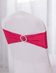 10Pcs  Spandex Chair Bands Spandex Chair Sash Stretch Lycra Chair Bands With Buckle Wedding Decoration