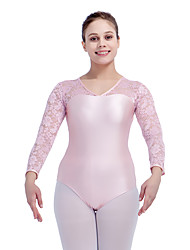 Ballet Leotards Women's Children's Training Nylon Lace Lycra Lace Splicing Long Sleeve Leotard