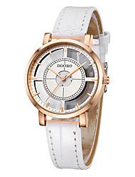 Mulheres Relógio de Moda Quartzo / Lega Banda Casual Elegantes Preta Branco marca