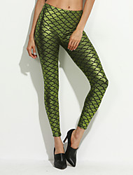 Women's Metallic Scales Leggings