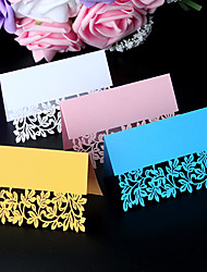 40pcs/lots love leaf Laser cut Wedding Party Table Name Lace Place Cards Lace Guest Place cards Wedding Card