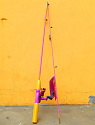 Cana de pesca Vara de Pesca Rotativa FRP 152 M Pesca Geral Haste Rosa-Barbie