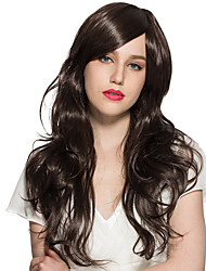Women Wig Long Wavy Curly Synthetic Fiber Wig Natural Black Party Wig Cosplay Costume Wig Hairstyle