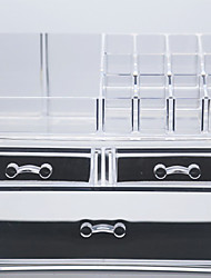 Makeup Storage Solid Quadrate Plastic Transparent Normal 23.6*14*18.9 Unisex