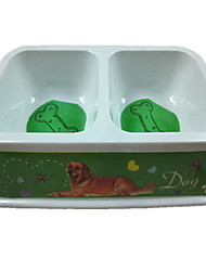 Dog Feeders Pet Bowls & Feeding Portable Red Green Pink Bamboo