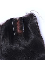 cabelo humano de boa qualidade 2.017 fechamento laço novo estilo de 4 * 4size parte do meio direto para mulheres