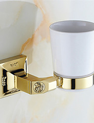 Bathroom Accessories Solid Antique Brass Material Toothbrush Holder
