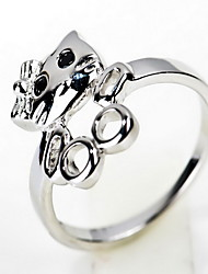 Ring Non Stone Party Daily Jewelry Sterling Silver Girls Ring 1pc,5 3 Silver