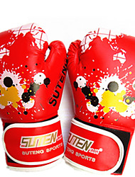 Boxing Gloves Full-finger Gloves Unisex Breathable Wearable Tactical Protective Boxing PU Red
