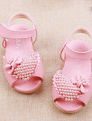 Girl's Sandals Comfort Leather Outdoor Athletic Casual Pink White Running