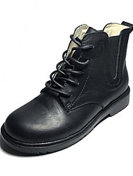 Girl's Boots Comfort PU Casual Black Red
