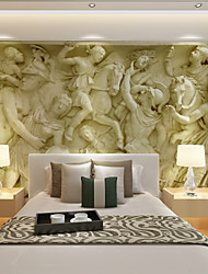 Art Deco Wallpaper For Home Wall Covering Canvas Adhesive required Mural Yellow Large Relief Background XXXL(448*280cm)XXL(416*254cm)XL(312*219cm)