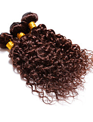 "4 Pcs Lot 12""-30"" Brazilian Deep Curl Virgin Hair Wefts Chocolate Brown Remy Human Hair Weave Tangle Free"