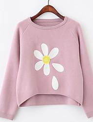 корейской версии новых женщин&# 39, S цветы в осенне-зимний свитер женская голова рыхлой коротким рукавом трикотажные рубашки науки
