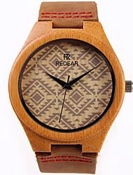 Women's Fashion Watch Wood Watch Quartz / Wood Band Casual Brown