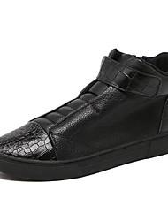 Черный-Мужской-Повседневный-ПолиуретанДругое-Ботинки