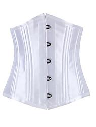 Shaperdiva Women's Sexy Underbust Satin 22 Steel Boned Corsets for Waist Training