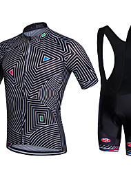 Fastcute Camisa com Bermuda Bretelle Homens Manga Curta Moto Calções Bibes Jaqueta Shorts Camisa Pulôver Camisa/Roupas Para Esporte