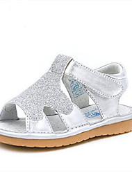 Girl's Sandals Comfort PU Casual Silver Gold