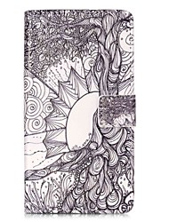 For HUAWEI P9 P8 Lite 5X 5C Y5II Y6II Case Cover Life Tree Pattern Painting Card Stent PU Leather Phone Case