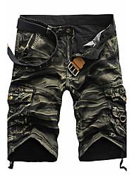 Hommes Ample Short Pantalon,simple Actif Punk & Gothic Décontracté / Quotidien Plage Vacances Camouflage Plissé Taille Normalefermeture