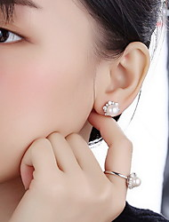 Stud Earrings Imitation Pearl Pearl Jewelry For Daily Casual