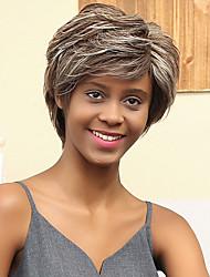 nueva esponjoso sencilla que prevalece la mezcla peluca del pelo humano del color