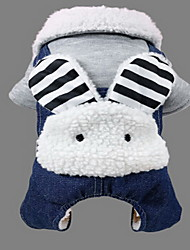 Dog Coat Dog Clothes Winter Solid Cute Sports Blue