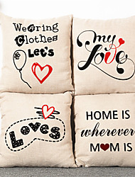 4pcs Simple Modern LOVE Pillowcase Home Decor Pillow Cover
