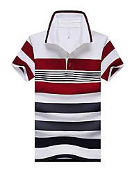 The summer of 2015 new fringe code Mens Short Sleeved T-shirt Lapel men's short sleeved POLO shirt