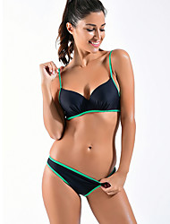 Damen Bikinis - Einfarbig Polyester Riemchen