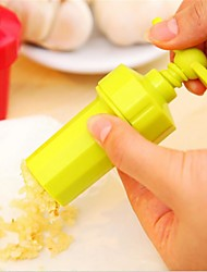 New Kitchen Ginger Garlic Manual Press Twist Cutter Crusher Cooking Tool Plastic Garlic Presses Blenders Peeler Random Color