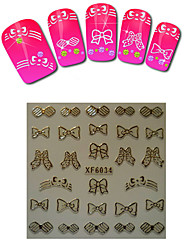 1sheet  Gold Nail Stickers XF6034