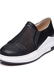 Women's Loafers & Slip-Ons Spring Summer Comfort Leatherette Outdoor Dress Casual Platform White Black