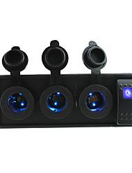 dc 12v / 24v drei LED-Steckdosen mit Kippschalter Prüfkabeln und Gehäusehalter