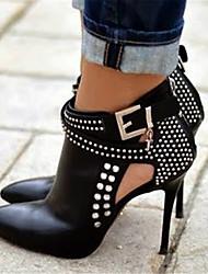 Women's Heels Spring Summer Fall Other PU Party & Evening Dress Casual Stiletto Heel Rhinestone Black