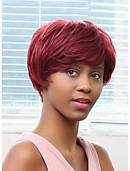 новый образец пушистый бордовый много цветов человеческих волос парик