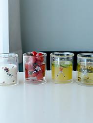 Transparente Dessin Animé Articles pour boire, 310 ml Sans BPA Paroi double Verre Thé Café Tasses de Thé