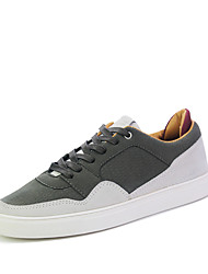 Men's Sneakers Spring Summer Fall Winter Comfort Leatherette Outdoor Casual Athletic Lace-up Split Joint Black White Army Green