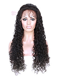 100% Human Virgin Hair Lace Wig Lace Front Natural Curly Lace  Wig-glueless with Baby Hair