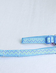 Dog Leash Adjustable/Retractable Stripe Green Blue Fabric