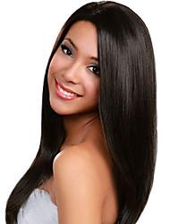 color natural de las pelucas del frente del pelo humano invisible profunda del cordón l 20inch parte recta del cordón del pelo humano