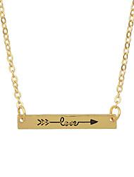 Ожерелье Ожерелья с подвесками Бижутерия Повседневные Базовый дизайн Сплав Кожа Женский 1шт Подарок Винный Серебряный Розовое золото